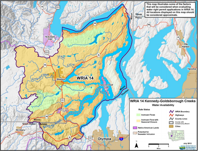 map of water resource inventory area 14